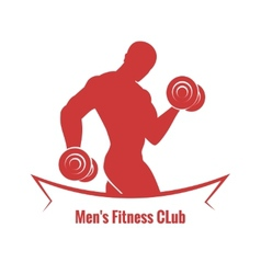 Mens fitness club logo vector
