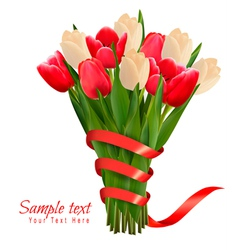 Valentines holiday background with bouquet of pink vector