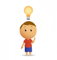 Man and lamp vector
