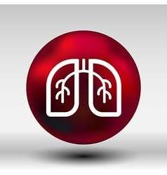 Lungs icon isolated on white background art vector