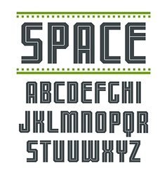 Sans serif font in sport style vector