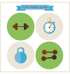 Flat sport fitness website icons set vector