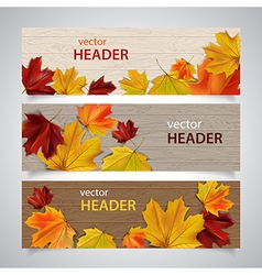 Autumn headers vector