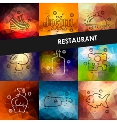 Restaurant timeline infographics with blurred vector