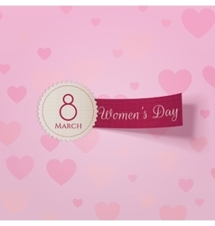 March 8 international womens day realistic label vector