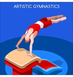 Gymnastics vault 2016 summer games 3d vector