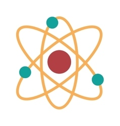 Atom molecule isolated icon design vector