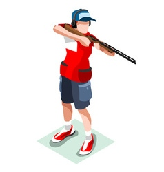 Shooting 2016 sports 3d isometric vector
