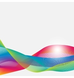 Abstract colorful airy ribbons on a white vector