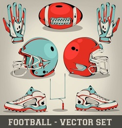 American football set vector image