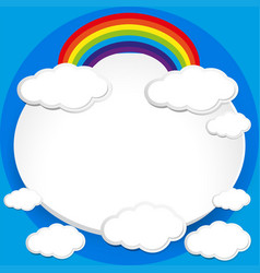 background design with rainbow in blue sky vector image vector image