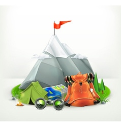 Backpacking vector image