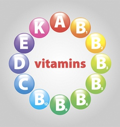 Beads of vitamins vector