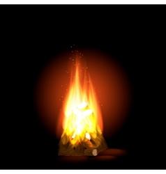 Bonfire with burning paulin vector