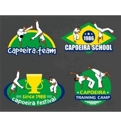 Capoeira logo set vector