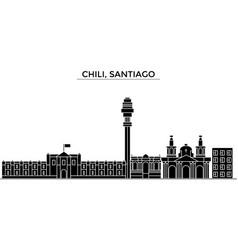 Chili santiago architecture city skyline vector