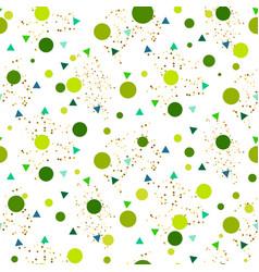 confetti seamless greenery glitter white vector image