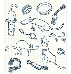 Dogs set vector