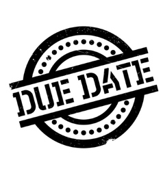 Due date rubber stamp vector