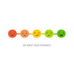 emoticons scale survey - feedback concept design vector image vector image