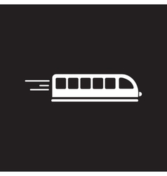 Flat icon in black and white style high-speed vector