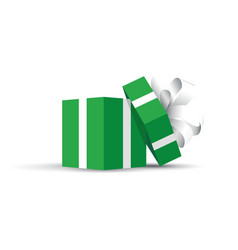 green opened present vector image vector image