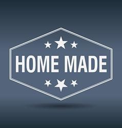 Home made hexagonal white vintage retro style vector