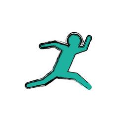 man running fast vector image