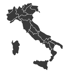 map Italy vector image vector image