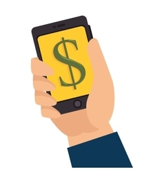 money smartphone pay technology vector image