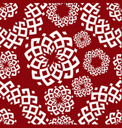 Pattern in ethnic style siberian ornament vector