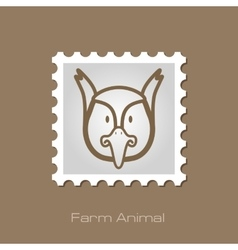 Pheasant stamp animal head vector