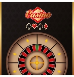 Roulette casino las vegas icon vector