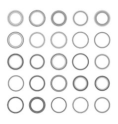 round frame made of simple geometric shapes vector image vector image