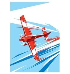 Sport plane in fly vector