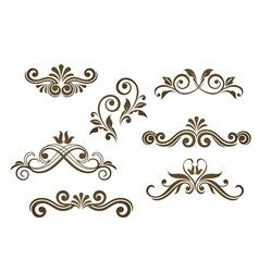 Vintage floral motifs vector