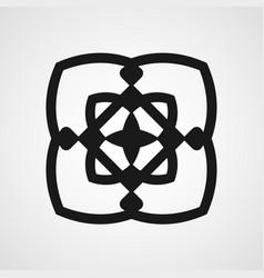 vintage ornamental logo vector image vector image