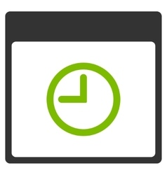 Time calendar page flat icon vector