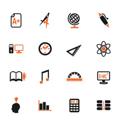 University icon set vector