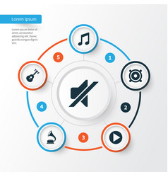 Audio icons set collection of phonograph vector