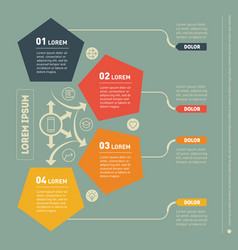 Infographic of technology or education process vector