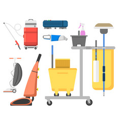 Professional cleaning equipment isolated vector