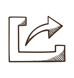 Share upload symbol with arrow vector image