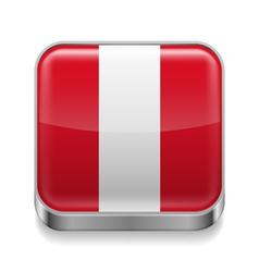 Metal icon of Peru vector image