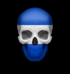 Salvadoran flag skull vector
