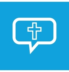 Christian cross message icon vector