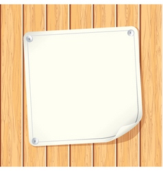 Paper sign on wall vector