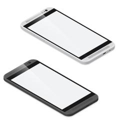 Smartphone detailed isometric icon set vector image