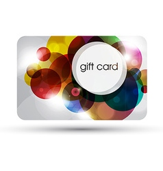 Bubble gift card design vector