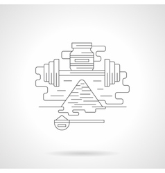 Fitness supplies detailed flat line icon vector